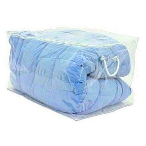 SimpleStore Large Clear Plastic Double Duvet Storage Bag